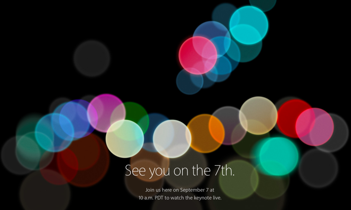 Apple Event September 7, 2016 (Image Source: Apple, Inc)